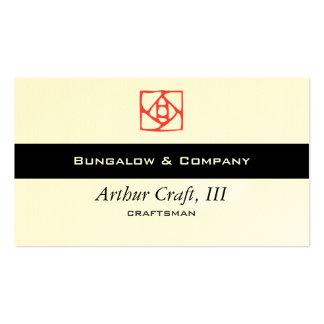 Arts & Crafts Ornament (flower) Business Card