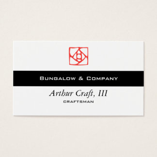 Arts & Crafts Ornament (flower) Business Card