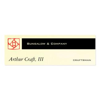 Arts & Crafts Ornament (flower) Mini Business Card