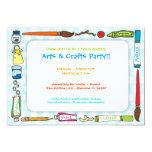 Arts & Crafts Party Invitation