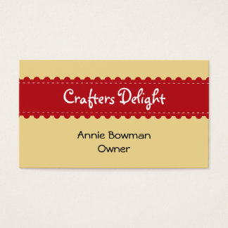 Arts crafts ribbon accessories handmade business business card