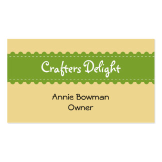 Arts crafts ribbon accessories handmade business Double-Sided standard business cards (Pack of 100)