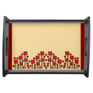 Arts & Crafts Rose Garden Serving Tray