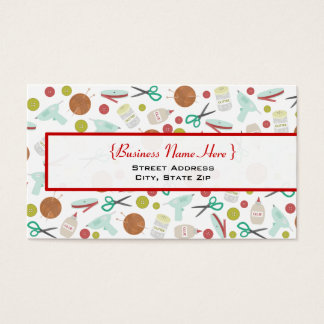 Arts & Crafts Themed Business Card