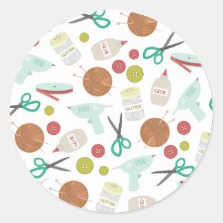 Arts & Crafts Themed Envelope Seal Sticker