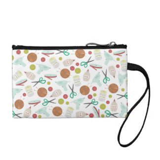Arts & Crafts Themed Key Coin Clutch Coin Purse