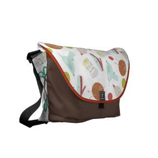 Arts & Crafts Themed Messenger Bag