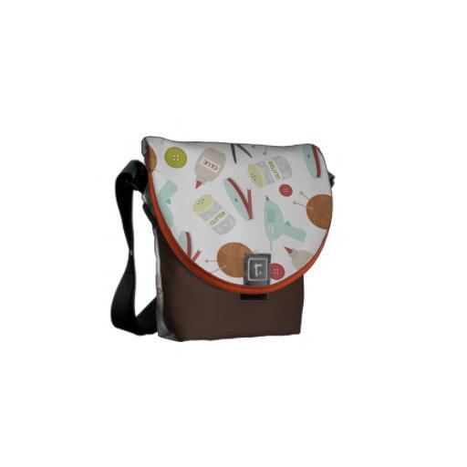 Arts & Crafts Themed Mini Messenger Bag