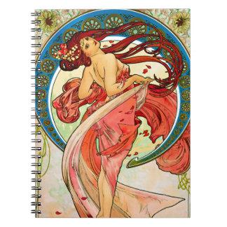 Arts Dance Spiral Note Books