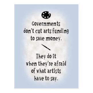 Arts Funding Postcard