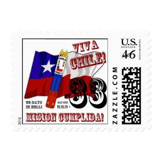 Arts To The World - Viva Chile Mision Cumplida Stamp
