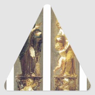 Arts, Wealth, Pleasure and Philosophy by Pierre Triangle Sticker