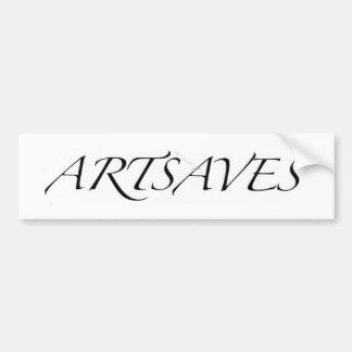 ARTSAVES Bumper-Stickers by Wabidoux Bumper Stickers