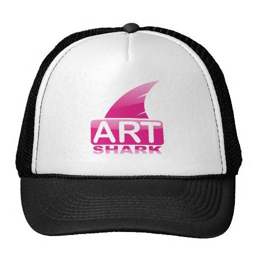 ArtSharkPink Trucker Hats