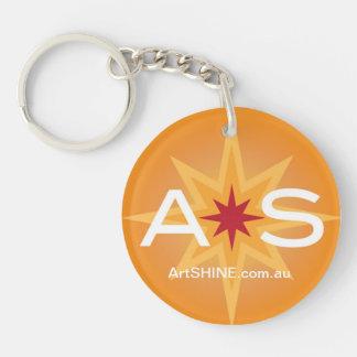 ArtSHINE Logo Keyring Round Double Sided Keychain