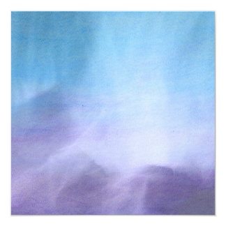 Artsy Abstract Blue Lavender Chalk Pastels 5.25x5.25 Square Paper Invitation Card