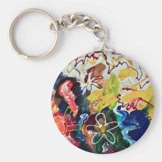 Artsy, abstract bohemian art keychains