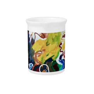 Artsy, abstract bohemian art beverage pitcher
