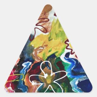 Artsy, abstract bohemian art triangle sticker
