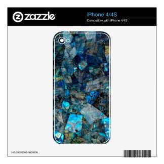 Artsy Abstract Labradorite Custom Skin iPhone 4/4S iPhone 4 Skin