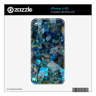 Artsy Abstract Labradorite Custom Skin iPhone 4/4S iPhone 4S Decal