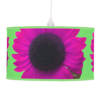 Artsy and Bright Fuchsia Sunflower Blossoms Ceiling Lamps