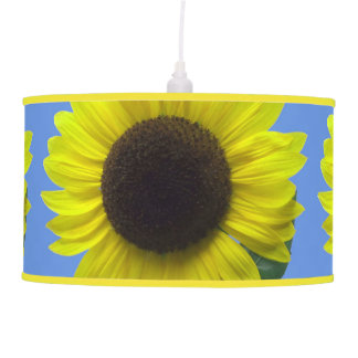Artsy and Sunny Yellow Sunflower Blossoms Pendant Lamp