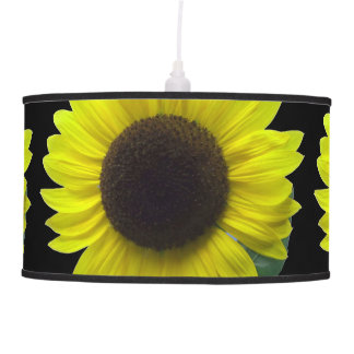 Artsy and Sunny Yellow Sunflower Blossoms Hanging Pendant Lamp