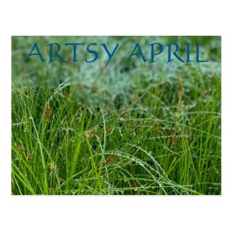 Artsy April Postcard