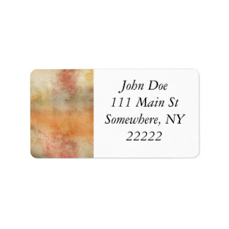 Artsy Autumn Abstract Label