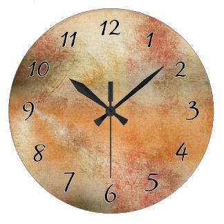 Artsy Autumn Abstract Large Clock