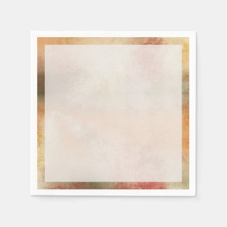 Artsy Autumn Abstract Napkin