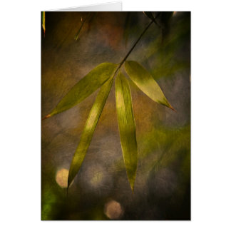 Artsy bamboo greeting card