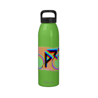 Artsy Bicycling Drinking Bottles