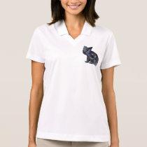 Artsy Black cat Polo Shirt