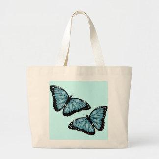 Artsy Blue Butterflies Jumbo Tote Bag