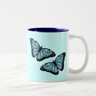 Artsy Blue Butterflies Coffee Mug