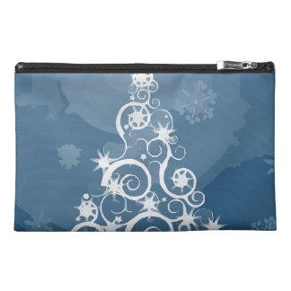 Artsy Blue Christmas Tree Travel Accessories Bags