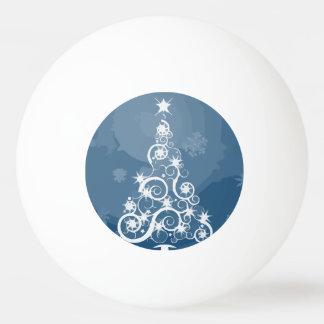Artsy Blue Christmas Tree Ping Pong Ball