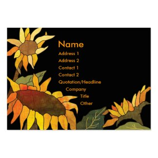 Artsy Bold Hip Sunflower Business Cards