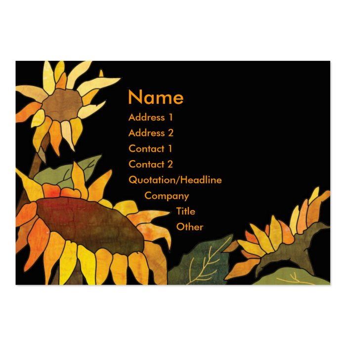 Artsy bold hip sunflower business cards zazzle for Artsy business cards