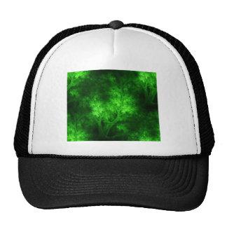 artsy_bright_green_trees trucker hat