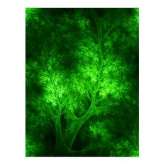 artsy_bright_green_trees postcard