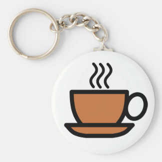 Artsy Brown Coffee Cup Keychains
