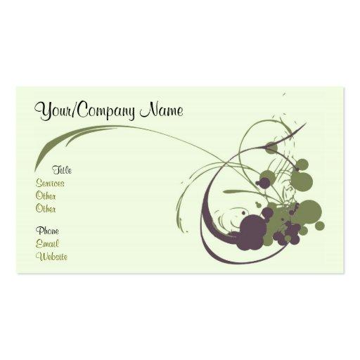 artsy business card zazzle