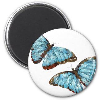 Artsy Butterflies 2 Inch Round Magnet