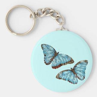 Artsy Butterflies Basic Round Button Keychain