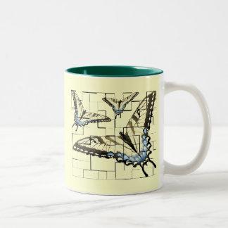 Artsy Butterflies Two-Tone Coffee Mug