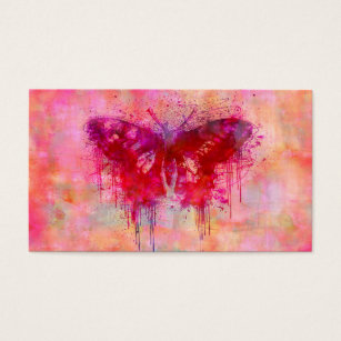 Wild crazy business cards templates zazzle artsy butterfly business card colourmoves Gallery