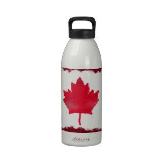 Artsy Canadian Flag Water Bottles